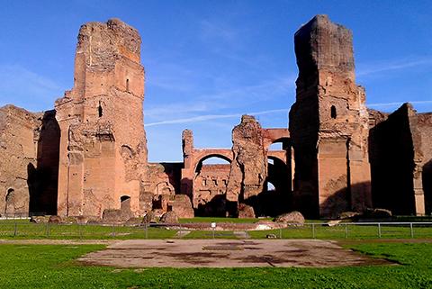 citytrip rome Thermen van Caracalla