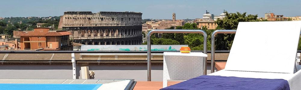 Hotel met zwembad op dak Mercure Roma Centro Colosseo