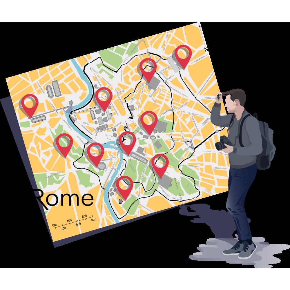 citytrip rome map vakantie